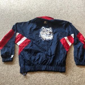 Vintage Starter UCONN Navy red & white Fan jacket
